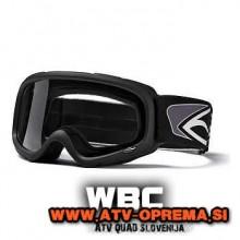 MX Zaščitna očala SMITH GAMBLER YOUTH - Črna