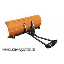 Snežni plug 132cm Shark (Oranžen) - v kompletu z adapterjem
