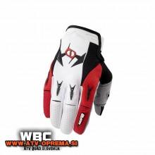 Rokavice MSR M9 Racing Renegade bela/rdeča